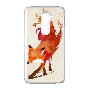 Blood Fox White Phone Case for LG G2