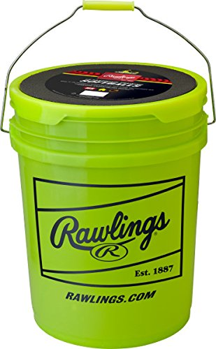 Rawlings Fastptitch Softballs and Bucket, 18 Count, RFBP12SY by Rawlings