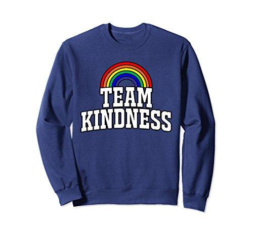 Rainbow Adult Sweatshirt (Unisex Choose Kind Sweatshirt Team Kindness Rainbow Sweater Medium Navy)