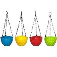 "Truphe Gardening Hanging Pots, Multi Color Flower Pots Size: 8"" Inch Dia - Diamond"
