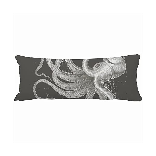 Laura Bunyan Family Decorative Body Pillows Nautical Steampunk Octopus Vintage Kraken Drawing Unique Design Home Decor Pillow Case Cover Custom Sofa Cotton Cushion Pillowcases 3