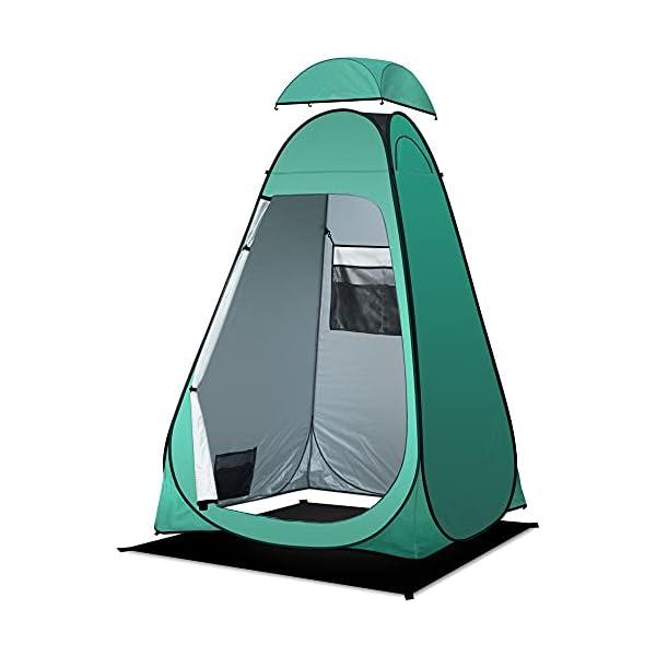 41%2Bw6RdUmES Camping Toilettenzelt riggoo Duschzelt Pop Up Umkleidezelt Privatsphäre Toilette Umkleidekabine Lagerzelt Mobile Outdoor…