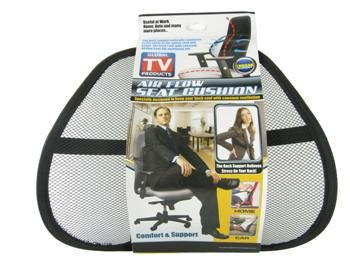 Cooler Seat Lumbar Back Chair Insert Mesh Support