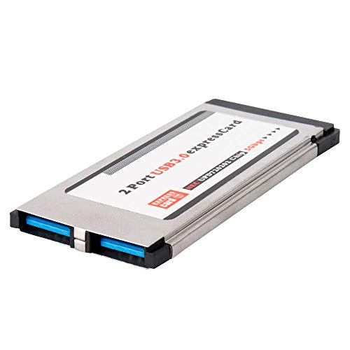 QNINE 34mm Express Card USB 3.0 Adapter 2 Port for Laptop PC ()