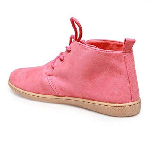 La Modeuse - Zapatos de cordones para mujer Coral