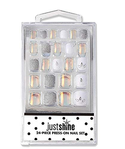 Justice Girls Just Shine Press-on Nails Chrome & Glitter
