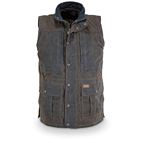Outback Trading Company Deer Hunter Oilskin Vest, Green, L (The Trading Company)