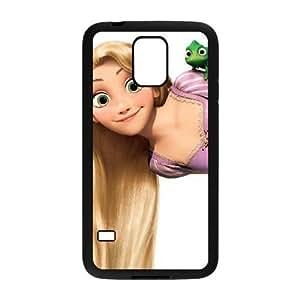 Samsung Galaxy S5 Phone Case Black Tangled Rapunzel XF4247366