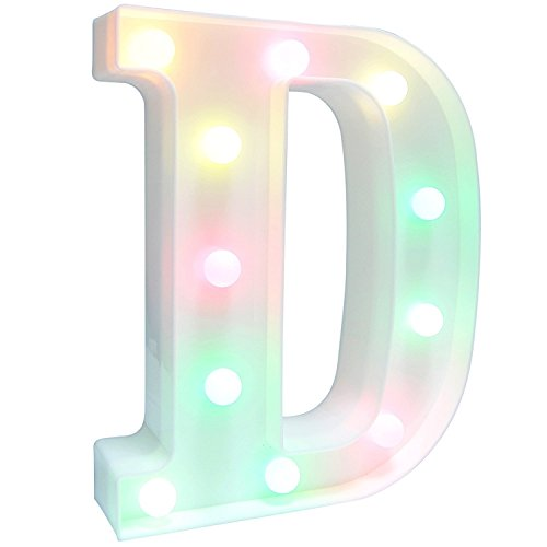 Lamp Alphabet (Letters Light Letters Party Supplies Kids Alphabet Colorful Letters Lamp Battery Operated Alphabet Table Decorations for Wall Decoration,Kids' Room,Living Room,Bedroom (D))