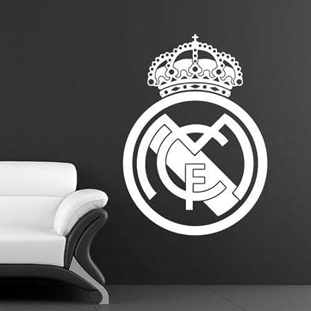 Real Madrid Motiv Fu/ßballclub Utopiashi Wandtattoo//Wandaufkleber Vinyl 58x81cm Coffee