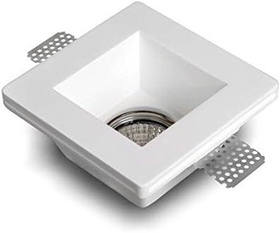 Aplique de yeso cuadrado para encastrar en el techo, agujero 120mm ...