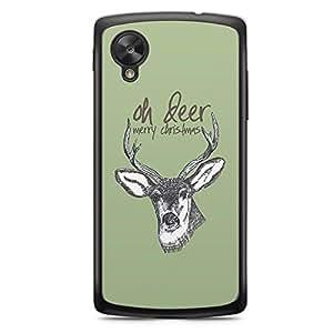 Oh Deer Nexus 5 Transparent Edge Case - Christmas Collection