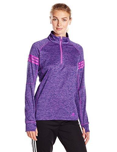 adidas Women's Athletics Team Issue Fleece 1/4 Zip Jacket, Shock Purple Heather, Medium