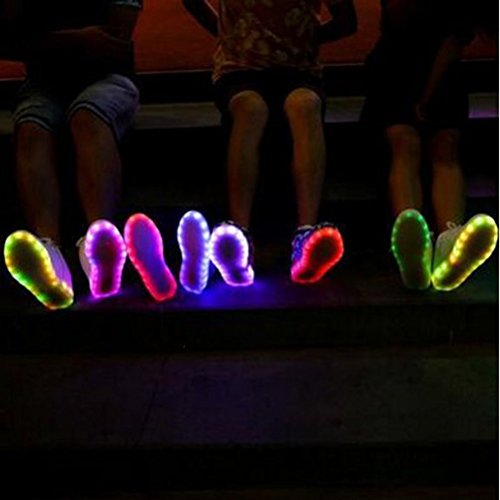 Carga Fiesta Peque LED Para a LUZ Ni o Danza con Presente Ni Deportivos Multicolor junglest Baile Brillantes a Para Zapatos Toalla Zapatillas c19 145xUqpw
