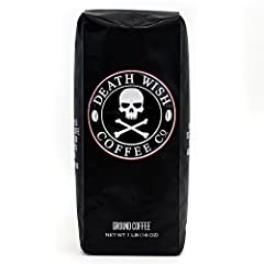 The World's Strongest Coffee in a 16-ounce bag. These beans are selected and roasted to perfection in order to provide a bold yet smooth tasting cup of coffee with that extra kick of caffeine that is sure to get your day going