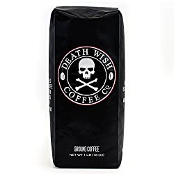 Image of the product Death Wish Ground Coffee, The Worlds Strongest Co that is listed on the catalogue brand of Death Wish Coffee Co..