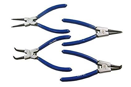 US Pro 2059 - Alicates de anilla para anillos de presión (4 piezas, 15