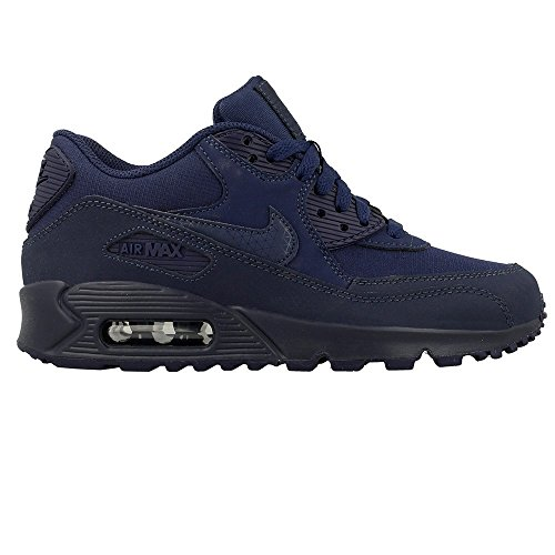 Nike Air Max 90 Mesh (GS) Jungen Laufschuhe Azul (Mdnght Nvy / Mdnght Nvy-Mdnght N)