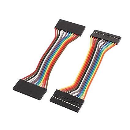 eDealMax 2 piezas DE 2,54 mm de paso 12P Mujer de tablero Principal Doble