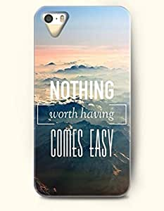 Nothing Worth Having Comes Easy - Moutains - iPhone 5 / 5s Hard Back Plastic Grey