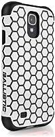 Ballistic Aspira Honeycomb Pattern Case for Samsung Galaxy S4 - Retail Packaging - White/Black