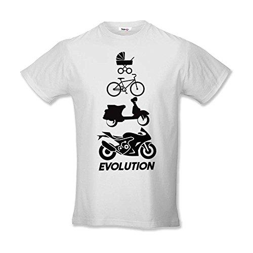 Babloo Festa Del Shirt Bianca Evolution Bimbo Maglia Idea Regalo T Papa' Bambino Yr0wxqrg