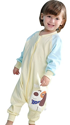 Early Walker Sleep Sack Baby&Toddler Sleeping Bag with Feet Wearable Blanket,Yellow Small