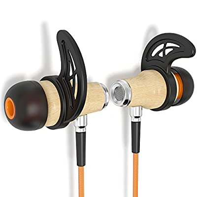 Symphonized NRG 2.0 Bluetooth Wireless Wood In-ear Noise-isolating Headphones | Earbuds | Earphones with Mic & Volume Control