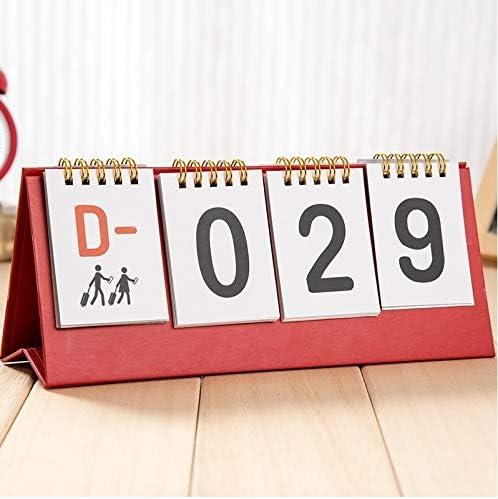 Tischkalender Kalendarien Creative Desktop Kalender Tabellen Countdown-Kalender Kalender 2020 (Color : Brown)