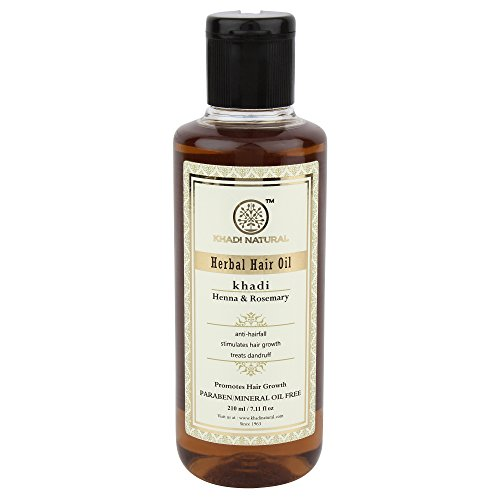 Khadi Natural Herbal Ayurvedic Rosemary and Henna Hair Oil (210 ml) ()