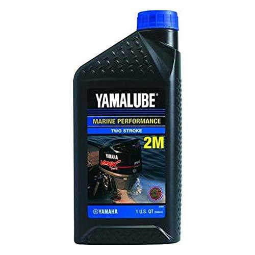 Yamaha LUB-2STRK-M1-12 Yamalube 2M Marine 2-Stroke Oil NMMA TC-W3 Quart; LUB2STRKM112 Made by Yamaha