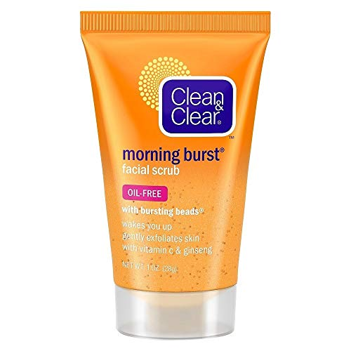 Clean & Clear Morning Burst Facial Scrub Travel Size 1 Oz. (4 Pack)