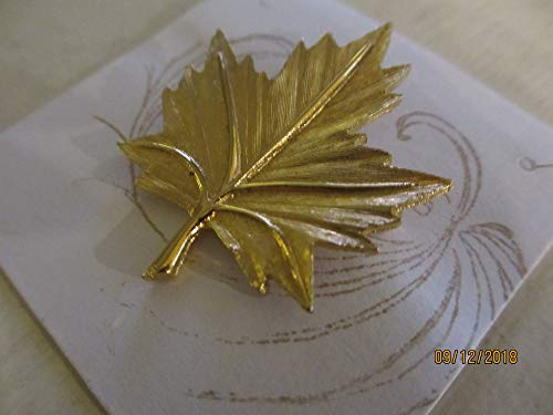 Fall Sale Rare Signed BBB Fall Leaf Pin Brooch, Vintage Leaf Pin, Vintage Fall Jewelry