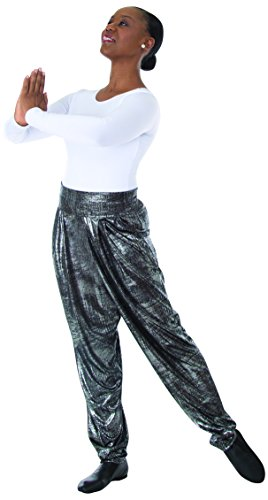 Body Wrappers Womens Harem Pant 8541 -Sanded Metal M