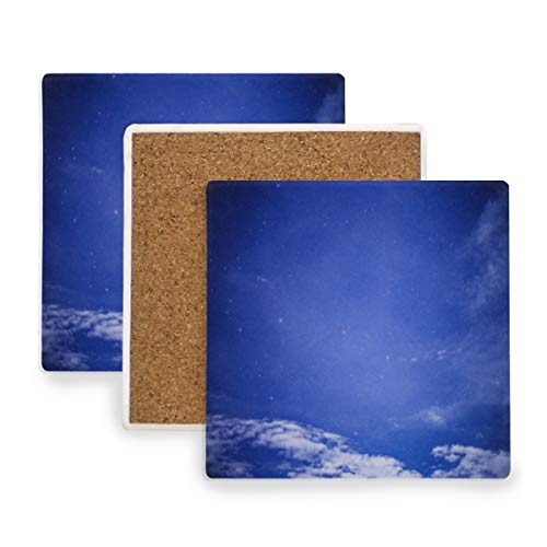 Blue Sky And White Clouds Coasters, Prevent Furniture