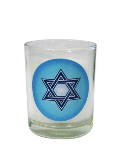 Star of David Yizkor Yahrzeit Memorial Candle