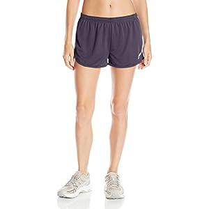 ASICS Women's Rival Ii 1/2 Split Shorts, Small, Steel Grey