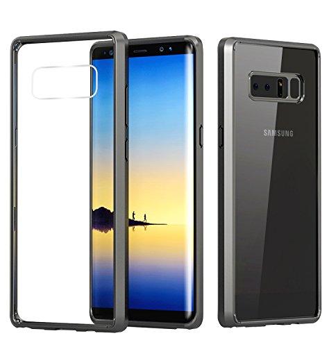 Samsung Galaxy Note 8 Clear Case, MoKo Slim Lightweight TPU Gel Bumper Shock-absorbing Rigid Transparent Back Cover Anti-scratch Protective Case for Samsung Galaxy Note 8 (2017) - Black + Clear