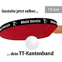 3 STK. Tischtennis Kantenband 10 mm schwarz mit eigenem Text