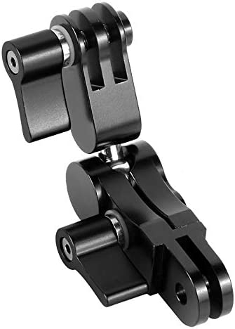 BEESCLOVER 360 Degree Rotation Mounts Adapters Helmet Adapters Mounts for G-oPro D-JI O-SMO Action X-iaomi YI EKEN Action Camera blackelectronic Product