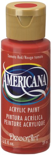 DecoArt Americana Acrylic Paint, 2-Ounce, Tomato Red