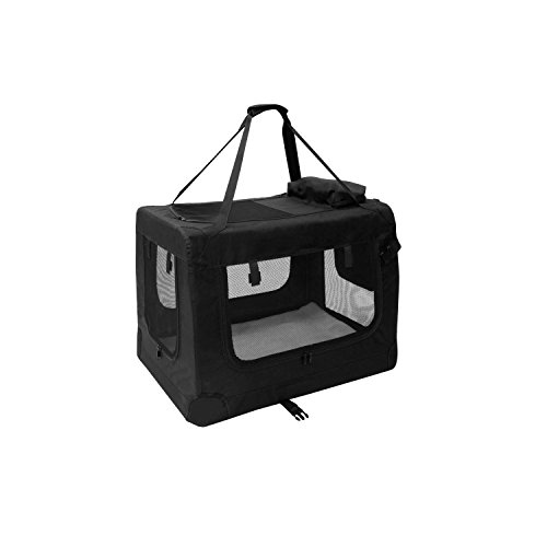 ALEKO-PBCBKS-19X14X12-Inch-Heavy-Duty-Collapsible-Pet-Carrier-Portable-Pet-Home-Spacious-Traveler-Pet-Bag-Black