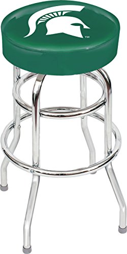 Chrome Seat Ring Bar Stool (Imperial Officially Licensed NCAA Furniture: Swivel Seat Bar Stool, Michigan State Spartans)