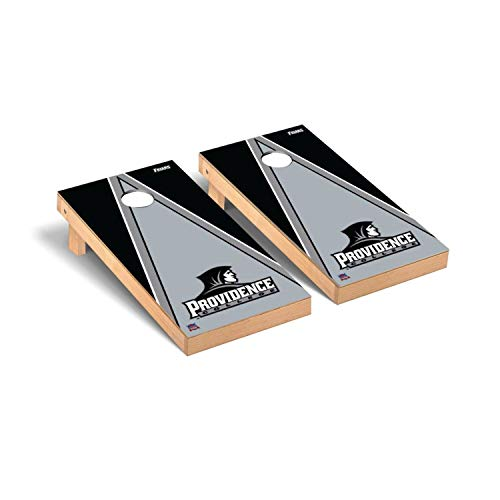 Victory Tailgate Regulation Collegiate NCAA Triangle Series Cornhole Board Set - 2 Boards, 8 Bags - Providence College Friars ()