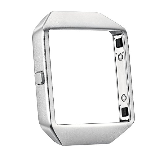 Kartice Compatible Fitbit Blaze Frame Housing Case Accessory,Fitbit Blaze Frames Housing Cable Fitbit Blaze Frame Set Metal Stainless Steel Frame Compatible Fibit Blaze Smart Watch-Silver