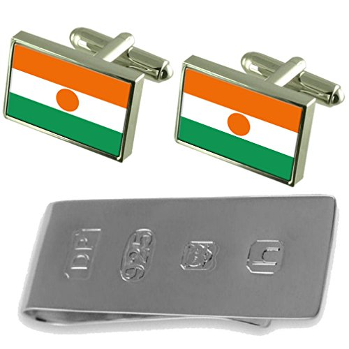 Niger Money Niger Clip Flag Flag Bond Cufflinks amp; James n004qr5wF