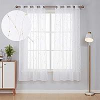 Deconovo Cortinas Visillos Dormitorio Moderno con Líneas
