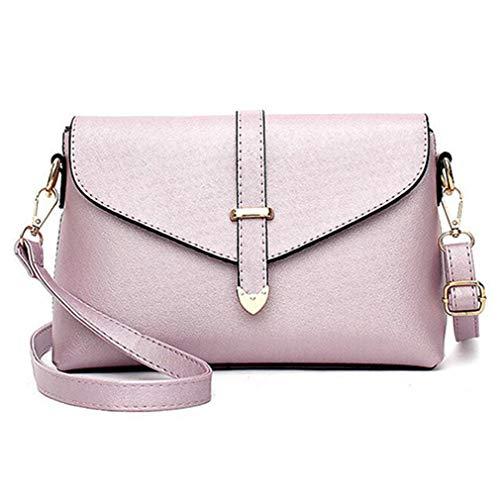 Purple Pink Flap de Lines Hand Light Light Crossbody Hombro Bolsos 26cmx7cmx17cm Bag para Mujeres qOvUcx