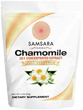 Samsara Herbs Chamomile Extract Powder – 20 1 Concentrated Extract – 2oz 57g Non – GMO, Potent, Highly Concentrated