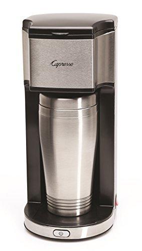 Capresso On-the-Go Personal Coffee Maker, Silver/Black by Capresso